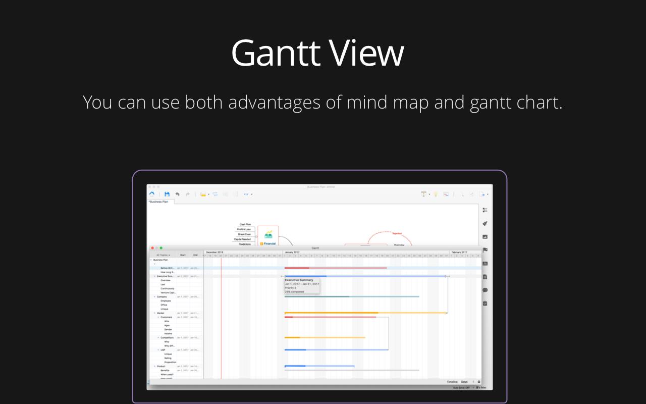 Utilisez à la fois les avantages des cartes heuristiques et des diagrammes de Gantt.