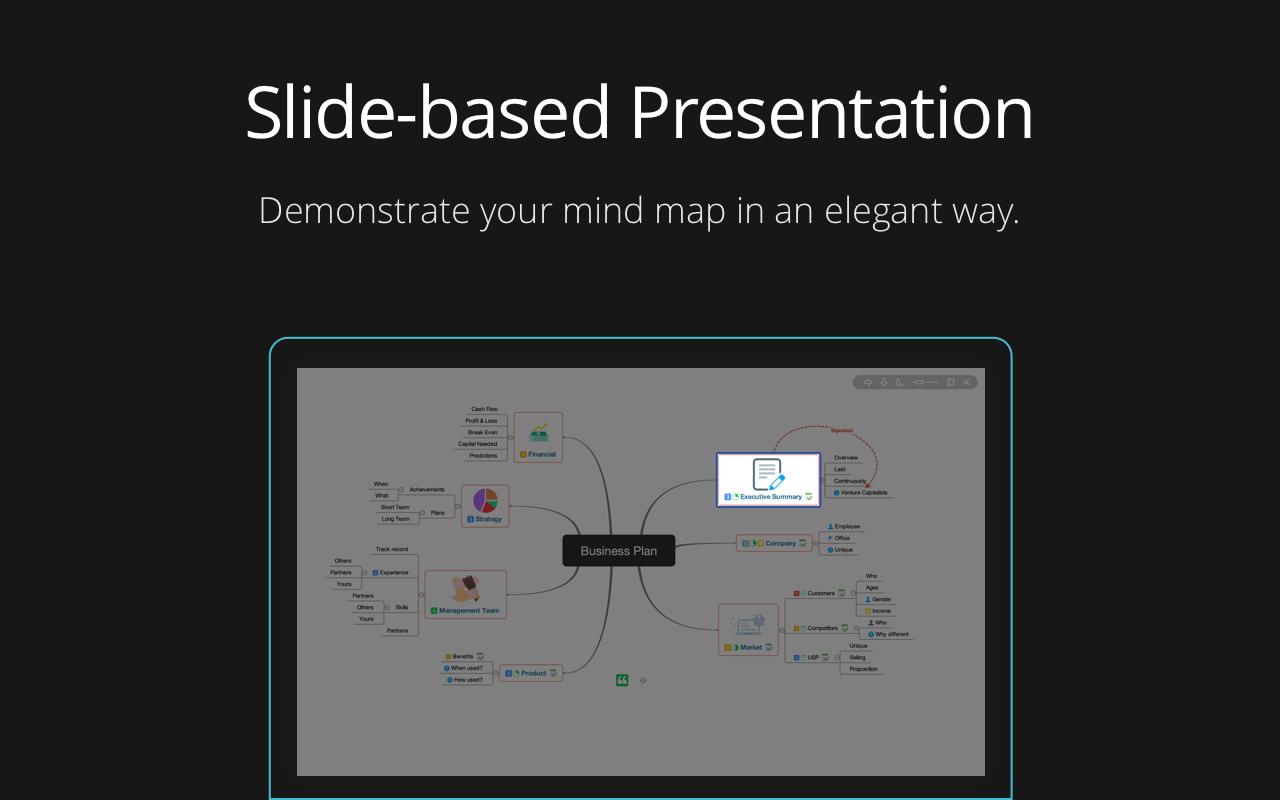 Profitez d'une présentation basée sur des diapositives, pour présenter vos idées de façon élégante.