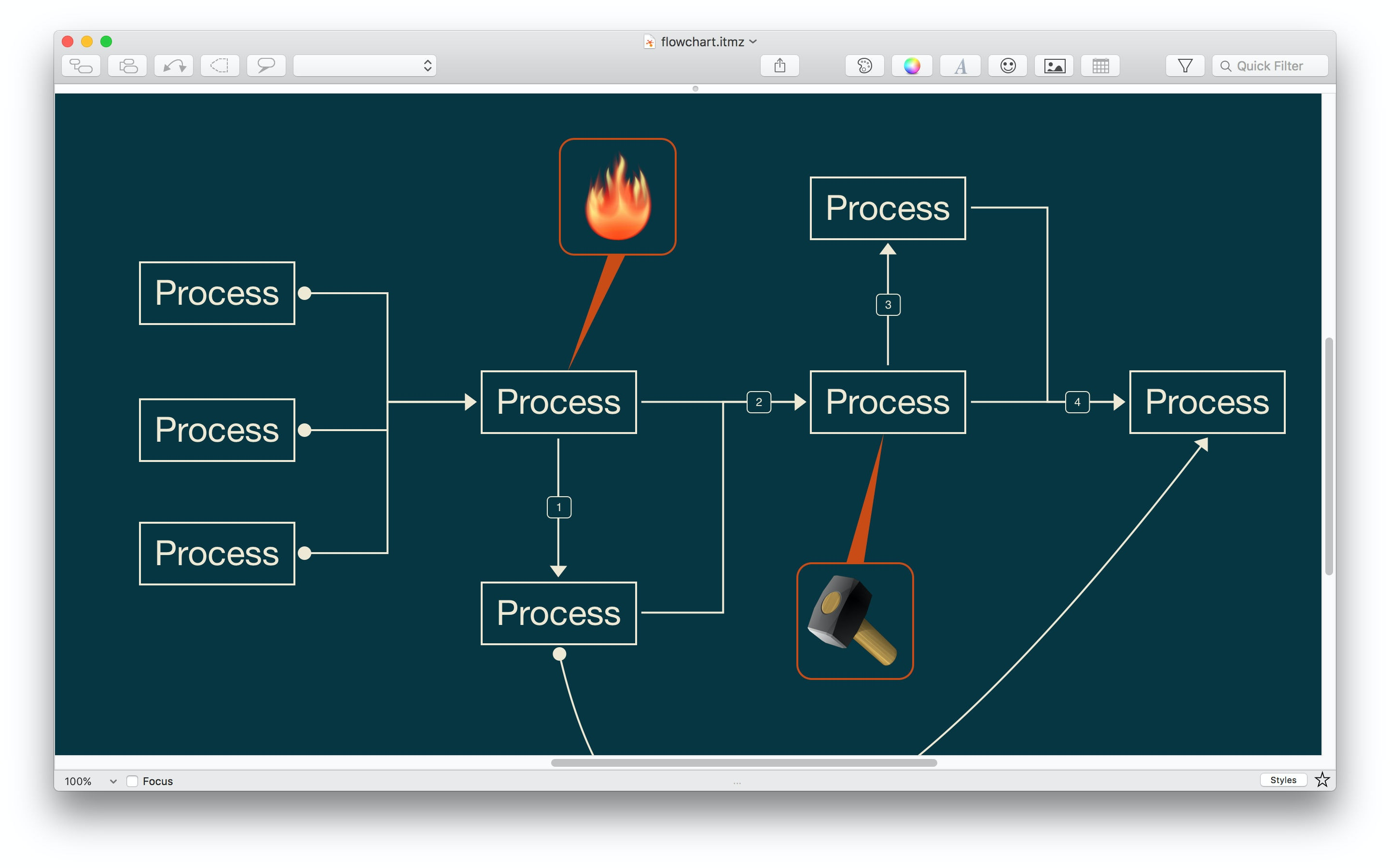 Use iThoughtsX to project planning.