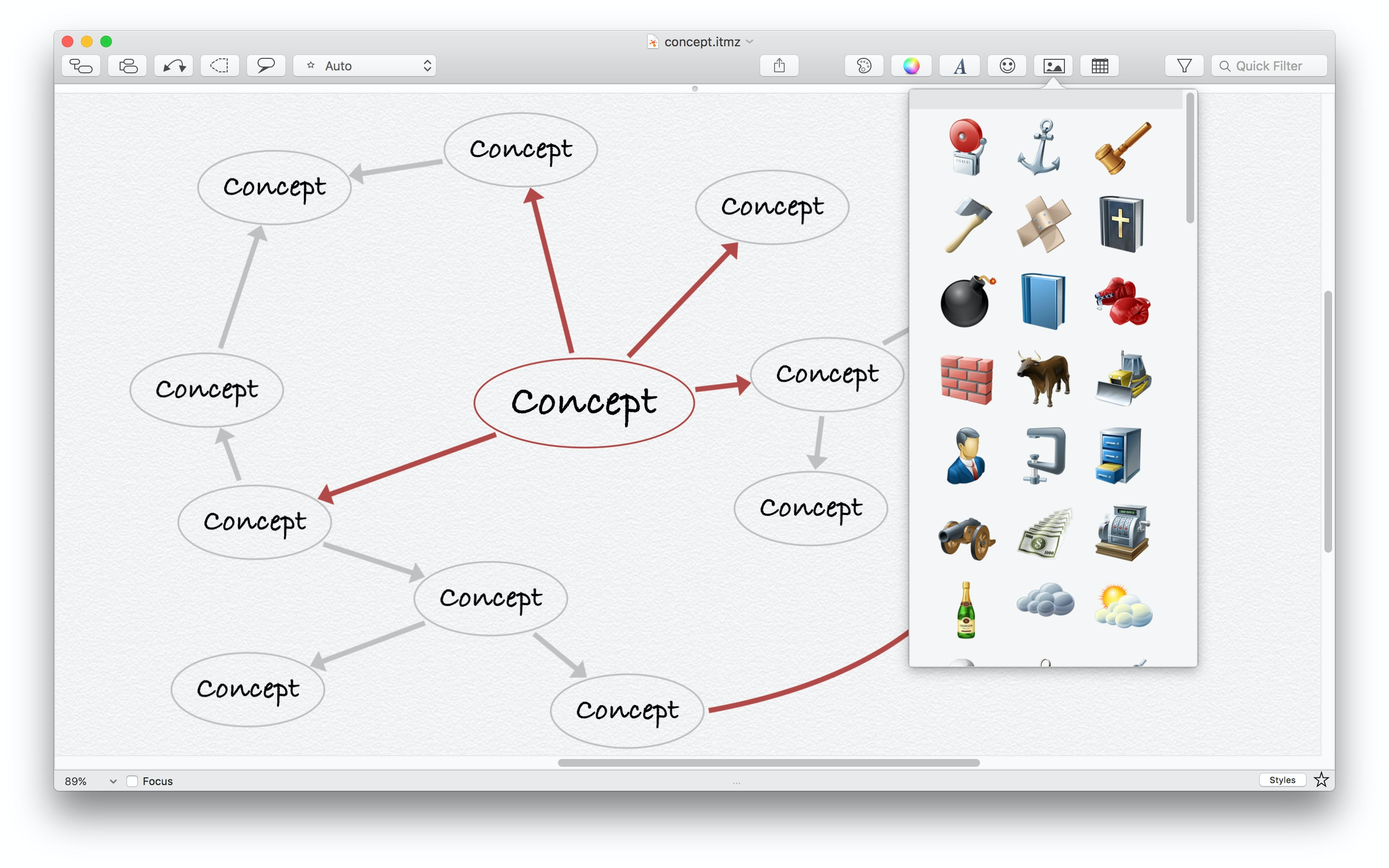 Advanced mindmap features and patterns.