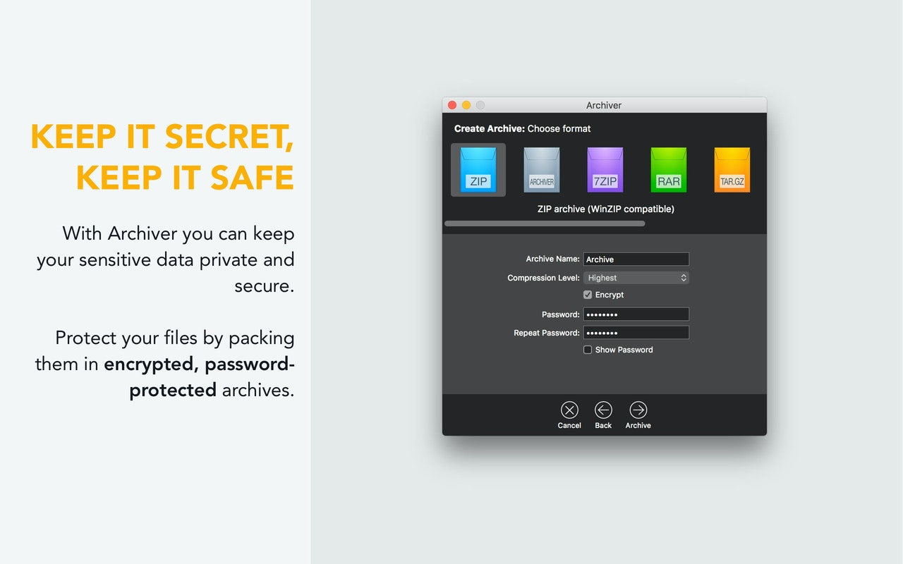 Schütze Dateien in verschlüsselten, passwortgesicherten Archiven.