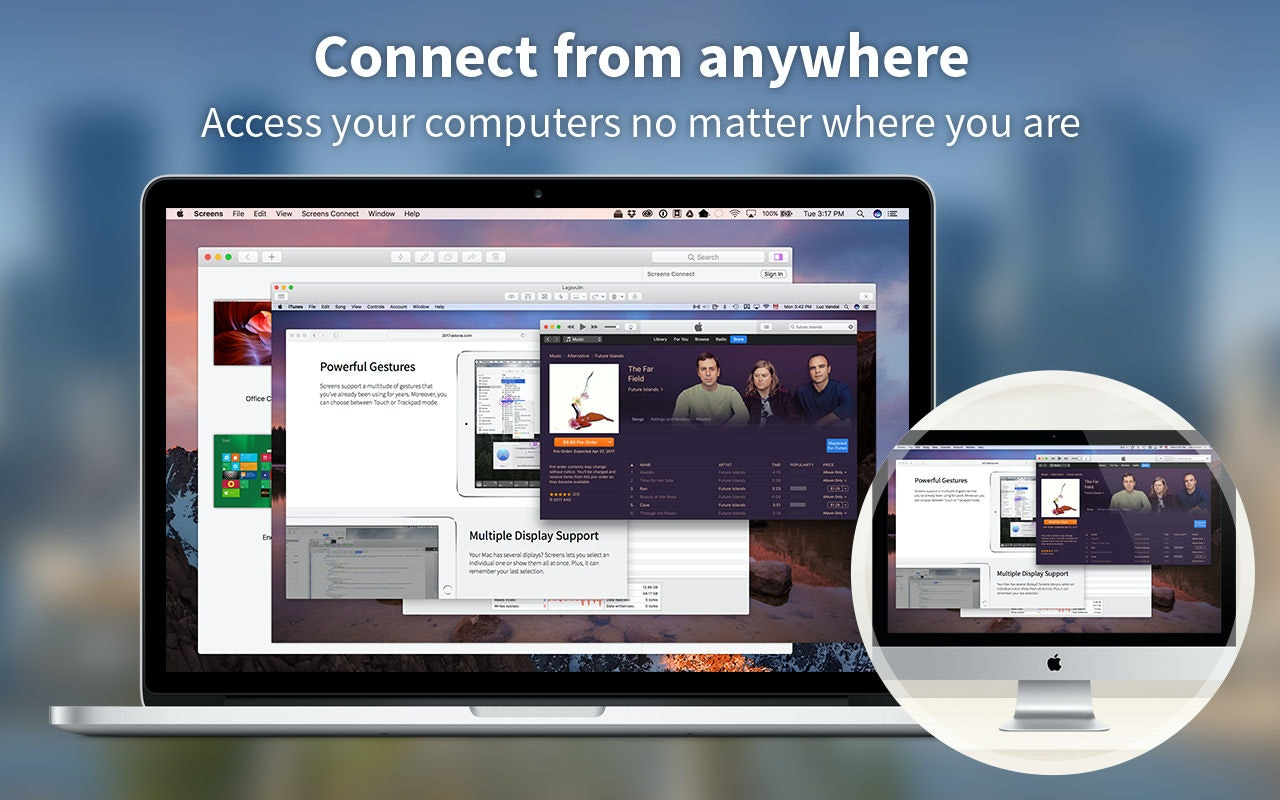Connect from anywhere - Remote access your Mac no matter where you are