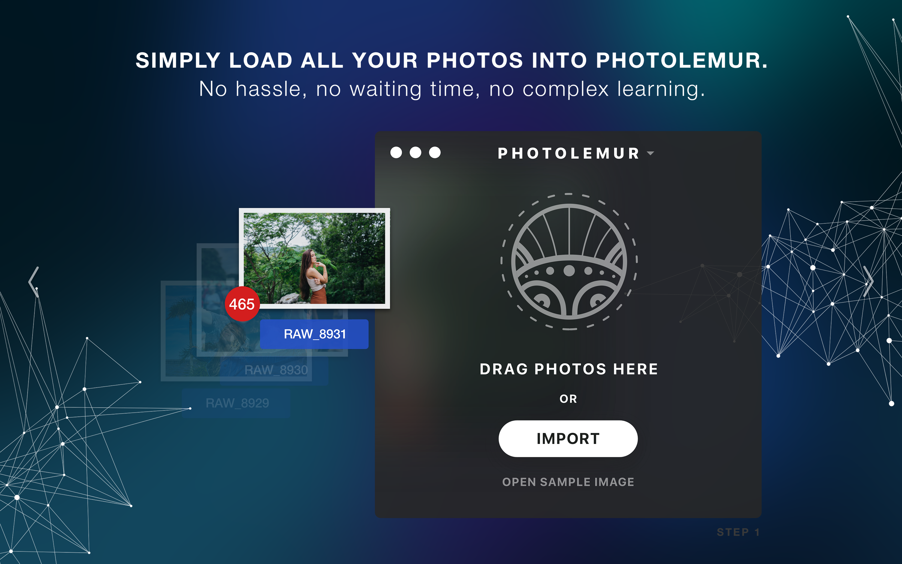 Simply load all your photos into Photolemur.