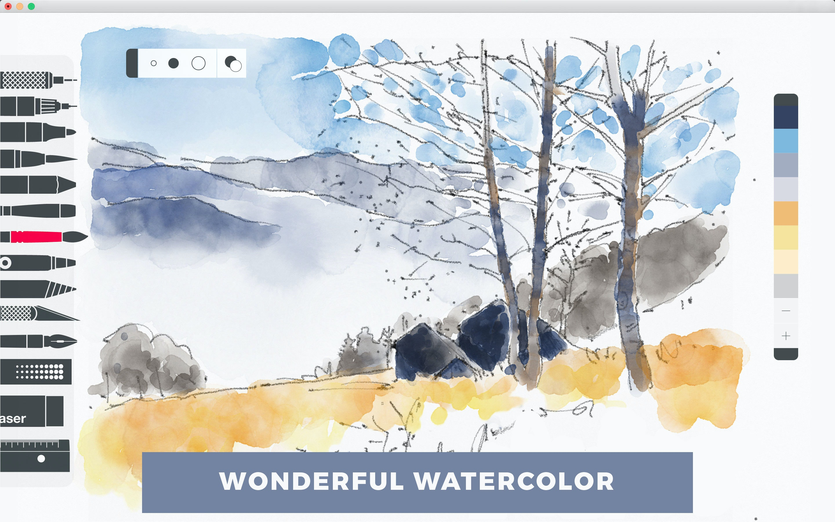Create your own watercolor digital art.
