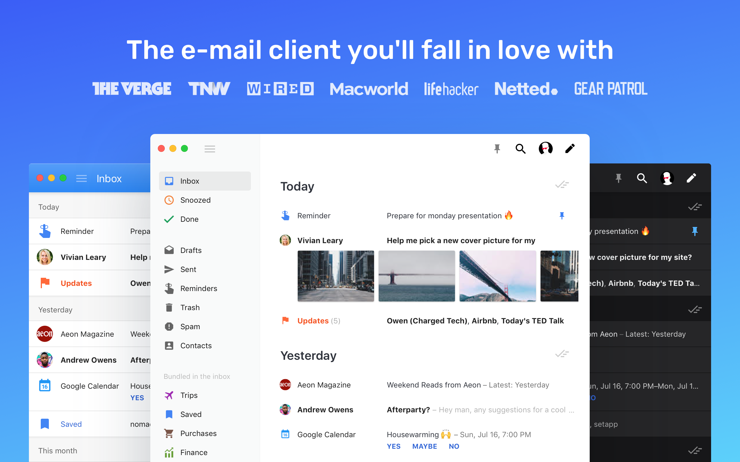 Boxy is a minimal and powerful e-mail client.