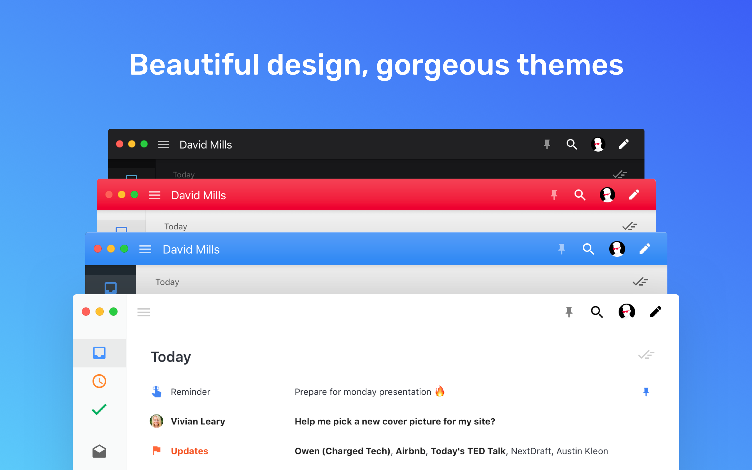 Boxy is an email client with beautiful design.