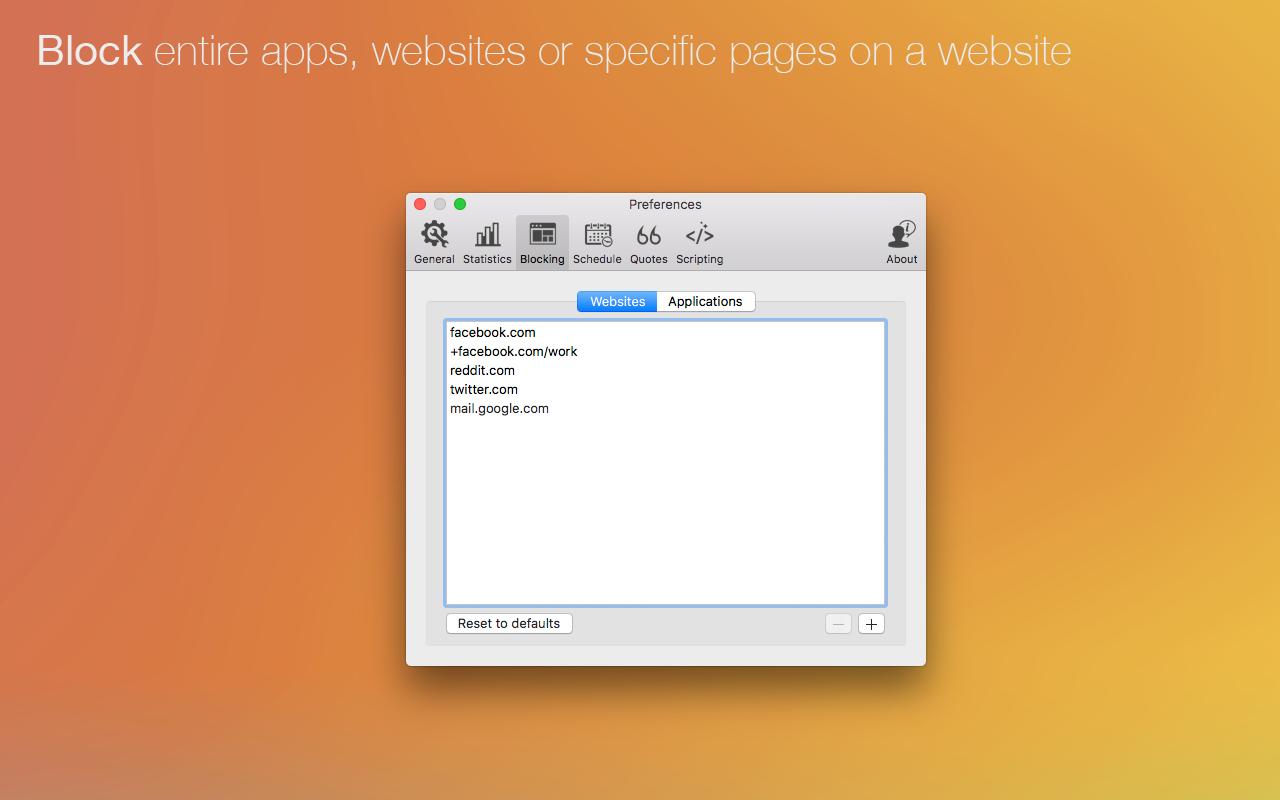 Blockiere ganze Apps, Websites oder bestimmte Webseiten.