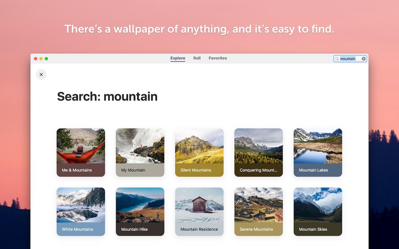 Tous les styles de fond d'écran, faciles à trouver.