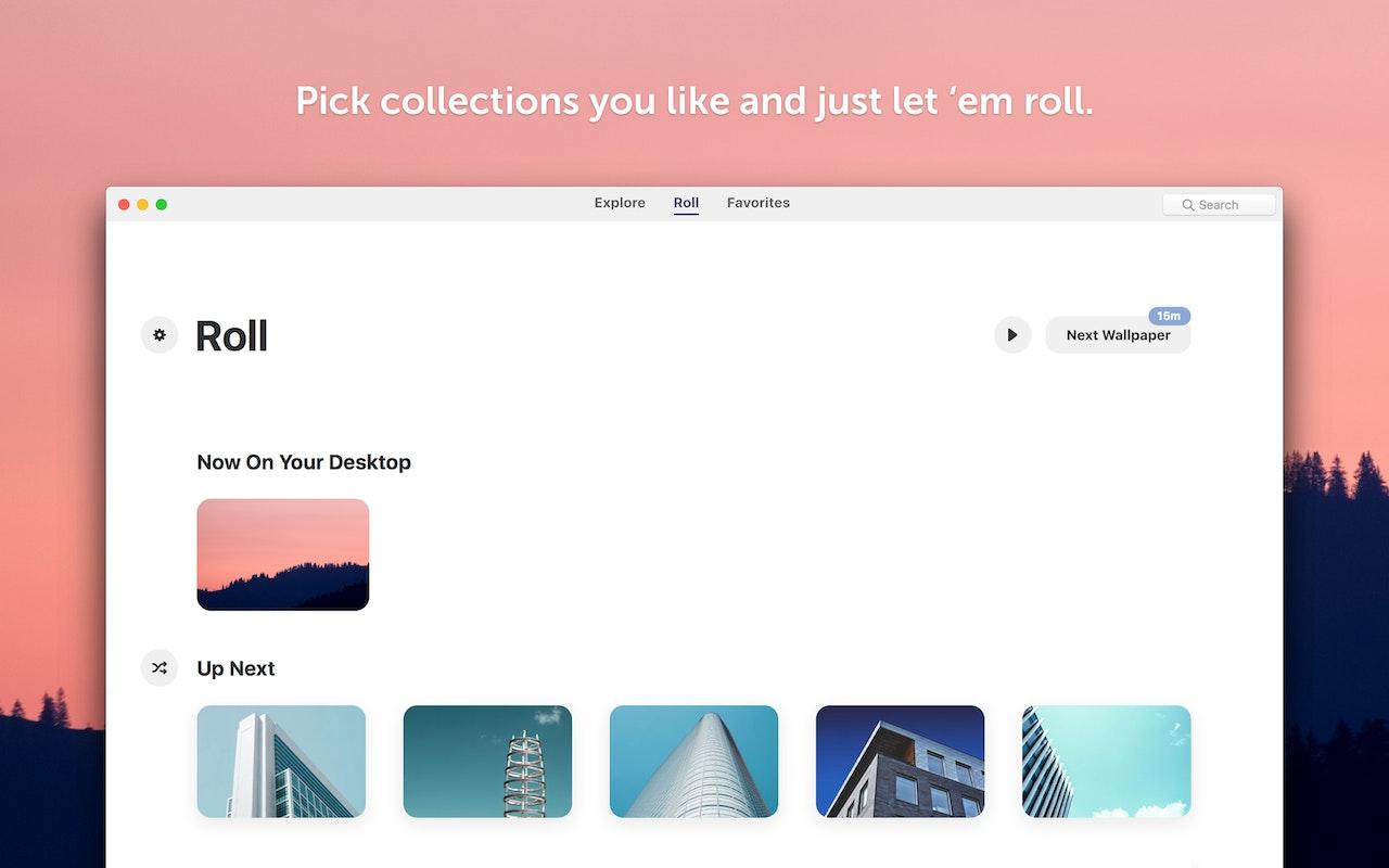 Choisissez des collections et faites-les défiler en boucle.