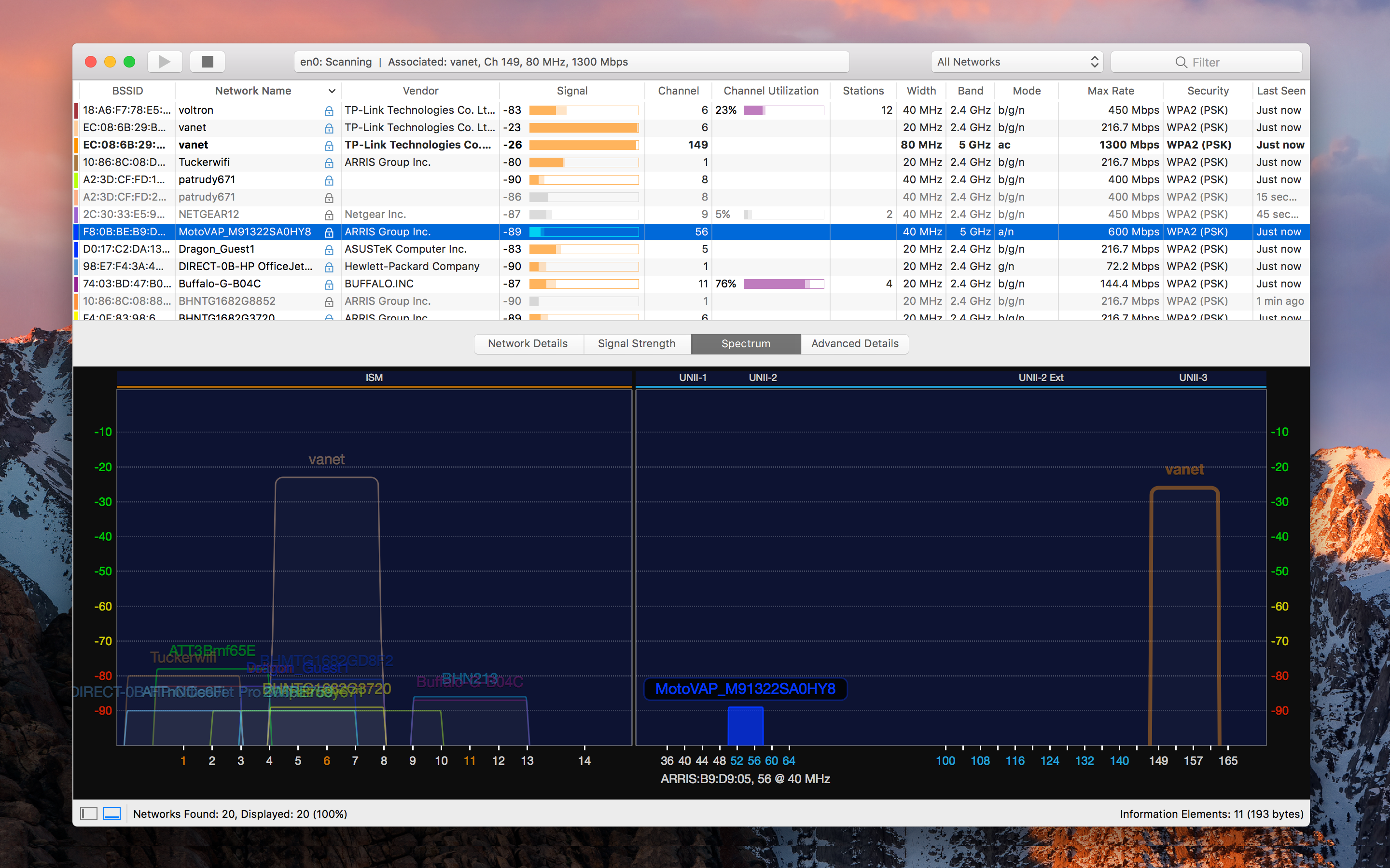 Use network monitoring to identify channel conflicts, overlapping or configuration issues that may be affecting the connectivity and performance of your wireless networks.