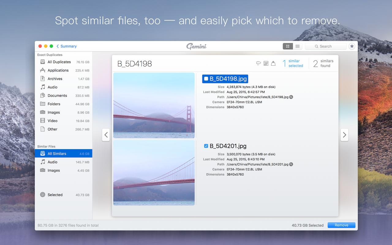 Spot similar files.