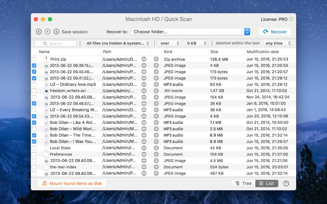 Analise e recupere dados perdidos no Mac a partir de qualquer dispositivo de armazenamento.