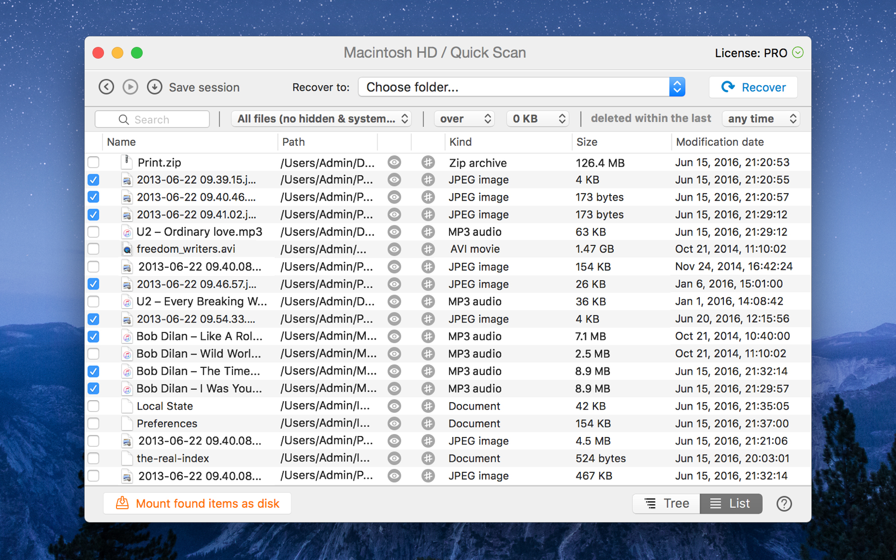 Scan and recover lost data on Mac from any storage device.