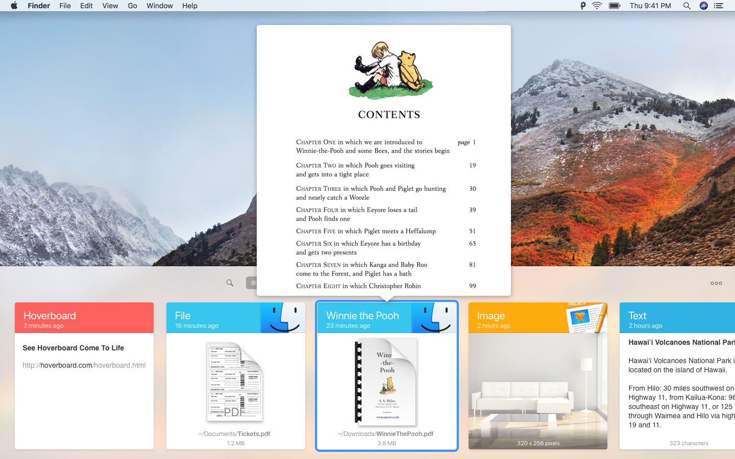Browse through a visualized clipboard history and preview any type of content.